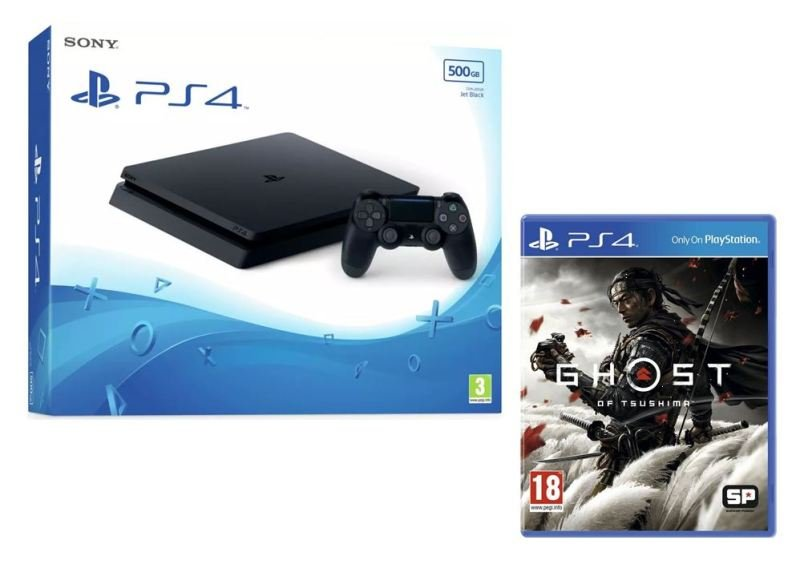 PlayStation 4 500GB + Ghost of Tsushima