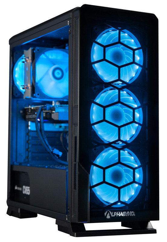 AlphaSync Core i5 10th Gen 16GB RAM 1TB HDD 240GB SSD RTX 2070 Gaming Desktop PC