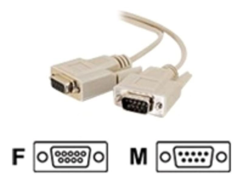 C2G, DB9 M/F Extension Cable Beige, 2m