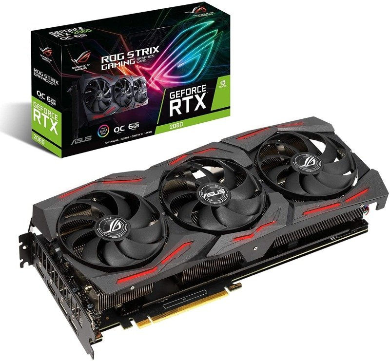 Asus GeForce RTX 2060 ROG STRIX 6GB OC EVO GAMING Graphics Card