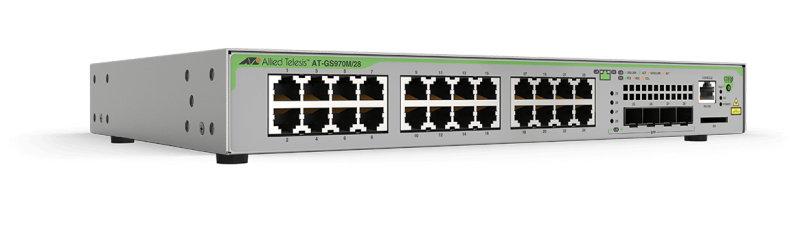 Allied Telesis GS970M - Managed L3 Gigabit Ethernet (10/100/1000) - 1U