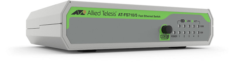 Allied Telesis FS710/5 - 5 Port - Unmanaged Fast Ethernet - Switch (10/100)