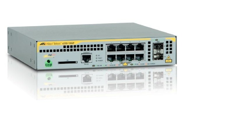 Allied Telesis AT-x230-10GP-50 - 8 Ports - Managed L2+ Gigabit Ethernet Switch (10/100/1000) - PoE