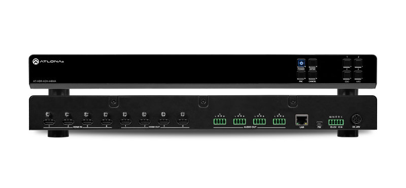 Image of Atlona AT-HDR-H2H-44MA - Matrix Switcher - AV Matrix Switcher Built-in Display - 34.3 W