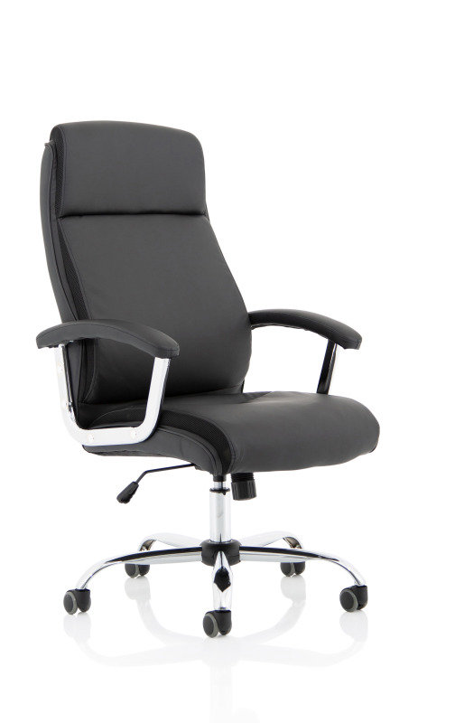 Hatley Black Bonded Leather Chair