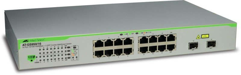 Allied Telesis AT-GS950/16-50 - 16 Ports - Managed L2 Gigabit Ethernet Switch (10/100/1000) - 1U