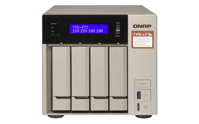QNAP TVS-473E-4G/32TB-RED - Ethernet LAN Tower - 4 Bay - NAS