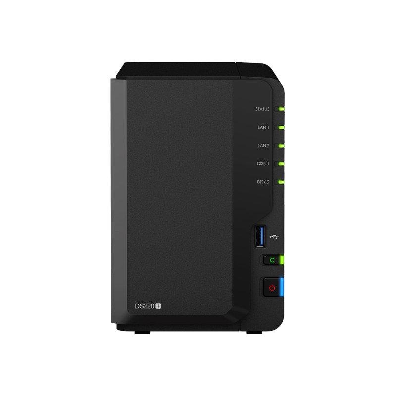 Synology DiskStation DS220+/2TB-RED - 2 Bay - Ethernet LAN - NAS Desktop