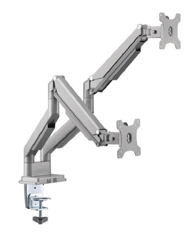 """EXDISPLAY Xenta Double Aluminium Swiveling Monitor Arm for 17-32"""" Screens"""