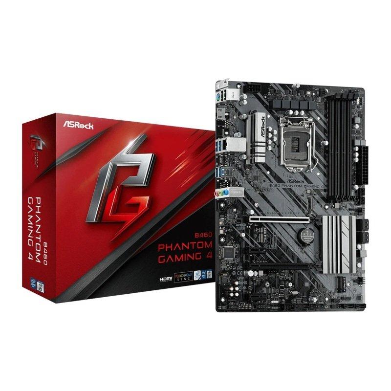 ASRock Intel B460 PHANTOM GAMING 4 ATX Motherboard