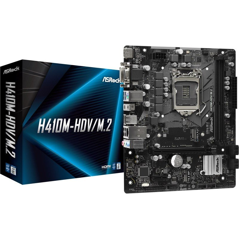 ASRock H410M-HDV/M.2 Intel Socket 1200 mATX Motherboard