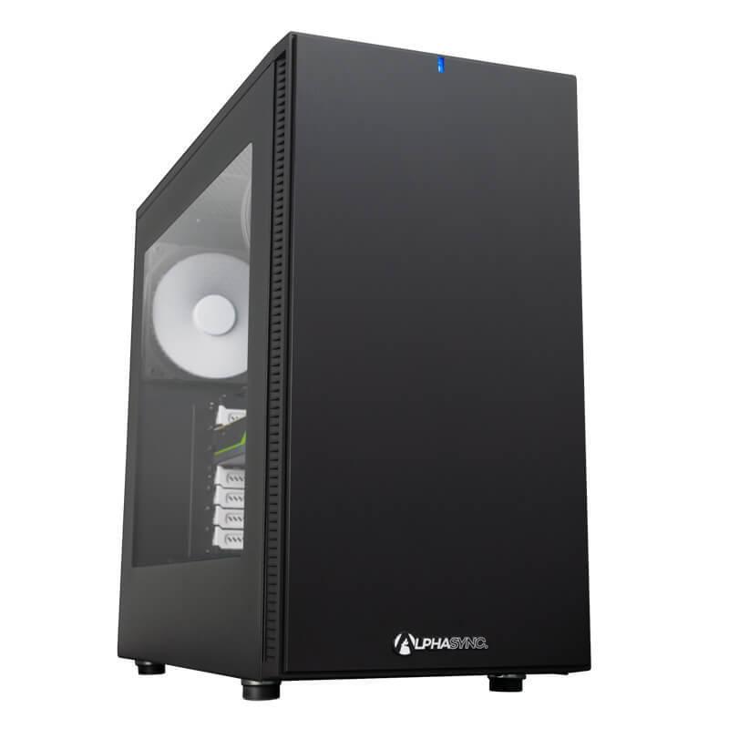 AlphaSync Workstation Core i9 10th Gen 64GB RAM 4TB HDD 500GB SSD Quadro RTX5000 Win10 Pro Desktop
