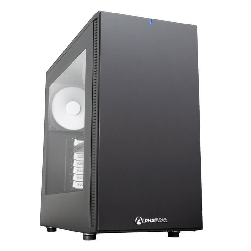 AlphaSync Workstation Core i9 10th Gen 64GB RAM 4TB HDD 512GB SSD Quadro RTX4000 Win10 Pro Desktop