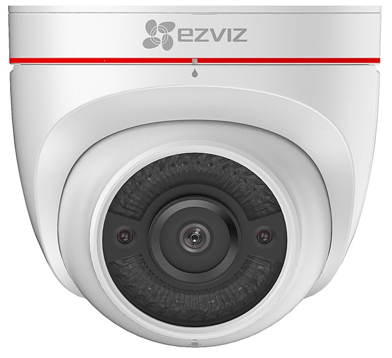 Image of EZVIZ C4W Outdoor Camera with Siren & Strobe Light - Works with Alexa and Google Assistant