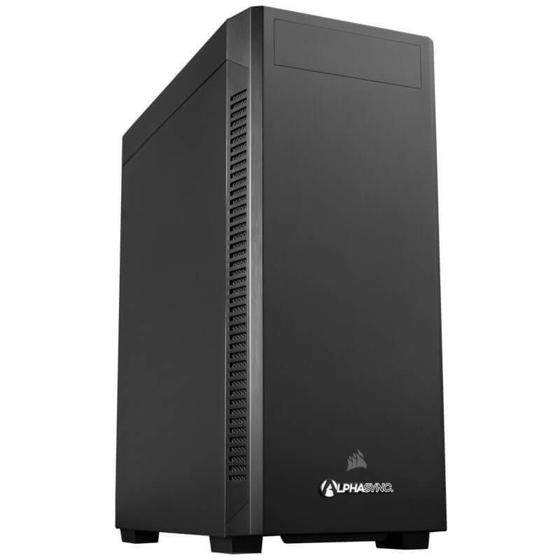 AlphaSync Workstation Core i5 10th Gen 32GB RAM 2TB HDD 256GB SSD Quadro P1000 Win10 Pro Desktop PC