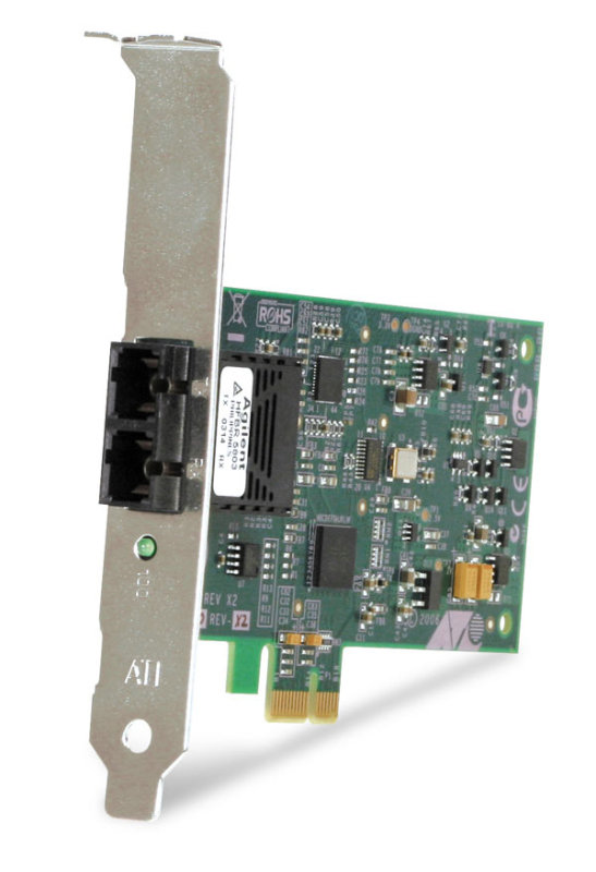 Image of Allied Telesis AT-2711FX/SC-901 - Fast Ethernet Card - PCI Express x1 - 1 Port - 1 x SC Port