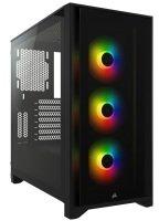 Corsair iCUE 4000X RGB Tempered Glass Mid-Tower - Black
