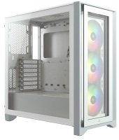 Corsair iCUE 4000X RGB Tempered Glass Mid-Tower - White
