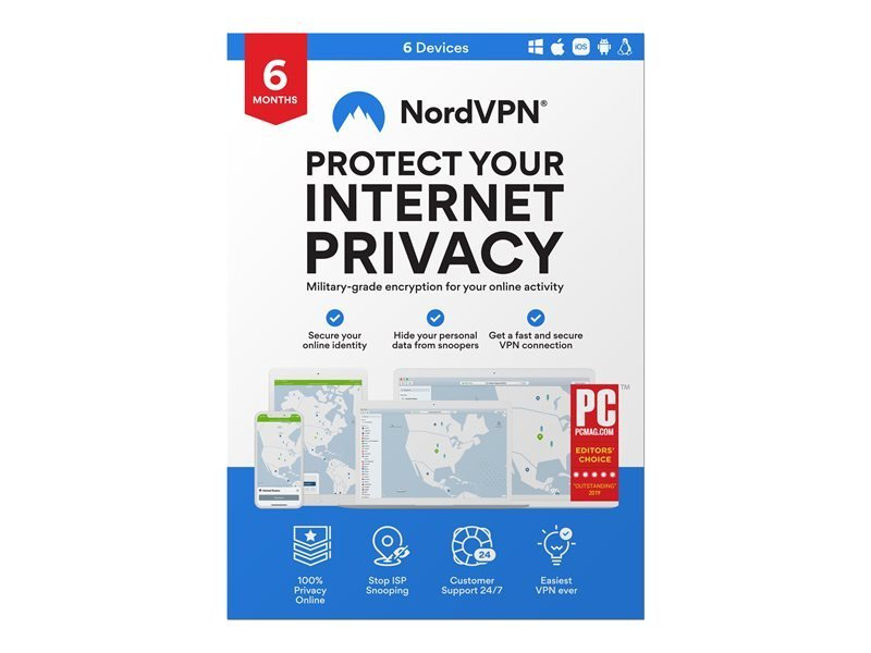 NordVPN - Subscription Licence - 6 Months - 1 Licence