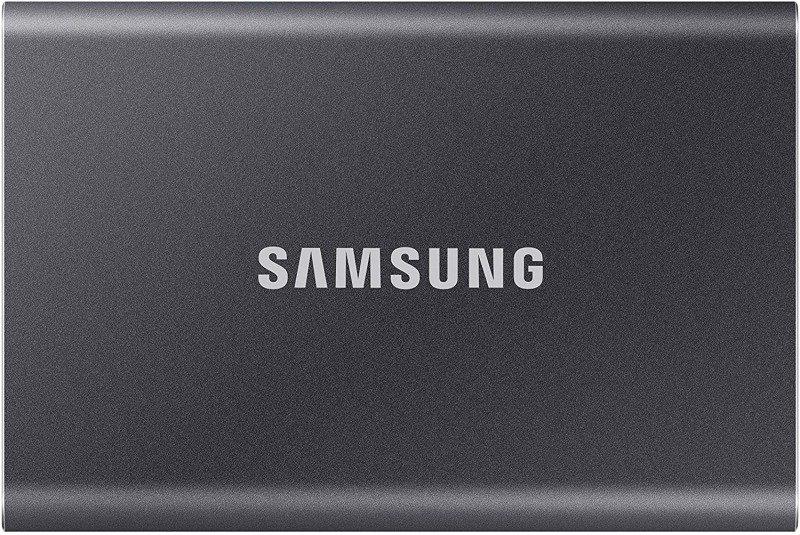 Samsung T7 Portable SSD - 500 GB - USB 3.2 Gen.2 External SSD Titanium Grey
