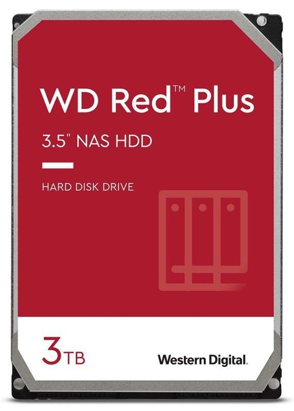"WD Red Plus 3TB 3.5"" SATA NAS Hard Drive (CMR)"