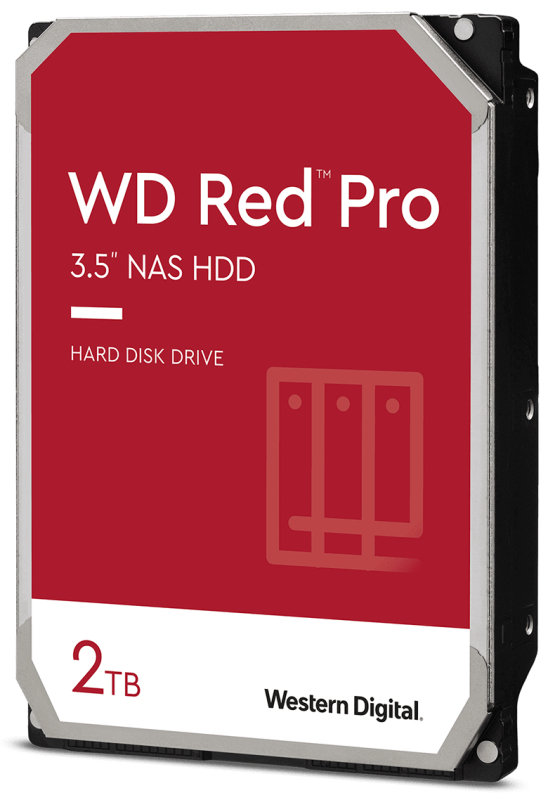 "WD Red Pro 2TB Serial ATA-600 3.5"" 7200 rpm Internal Hard Drive - CMR"