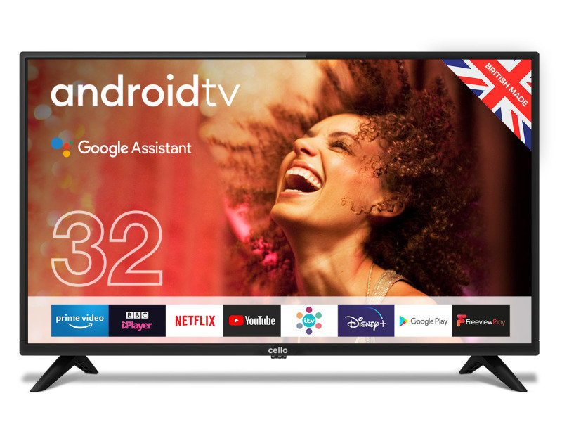 "Cello C3220G 32"" Smart Android TV with Google Assistant and Freeview Play"