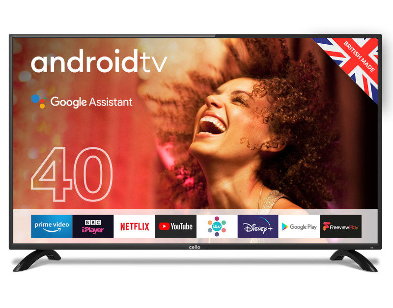 """Cello C4020G 40"""" Smart Android TV with Google Assistant and Freeview Play"""