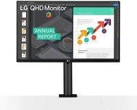 LG 27QN880 27'' QHD Ergo IPS Monitor with USB Type-C