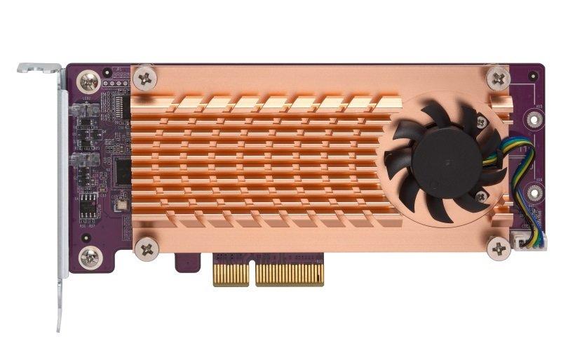 EXDISPLAY QNAP QM2-2P-244A Dual M.2 22110/2280 PCIe SSD Expansion Card