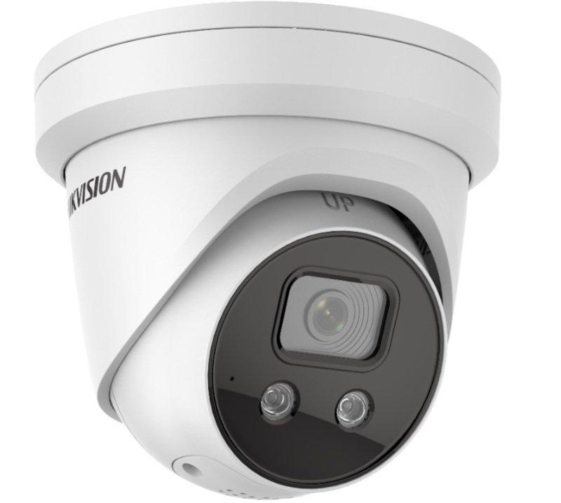 Hikvision AcuSense 4 MP DarkFighter Fixed Turret Network Camera - 2.8mm