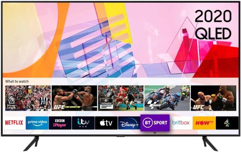 "SAMSUNG QE50Q60T 50"" Smart 4K Ultra HD HDR QLED TV with Bixby Alexa & Google Assistant"