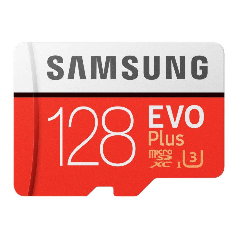 SAMSUNG EVO PLUS128GB MICROSDHC FLASH MEMORY CARD WITH SD ADAPTER