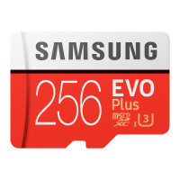 SAMSUNG EVO PLUS 256GB MICROSDHC FLASH MEMORY CARD WITH SD ADAPTER