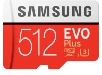 SAMSUNG EVO PLUS 512GB MICROSDHC FLASH MEMORY CARD WITH SD ADAPTER