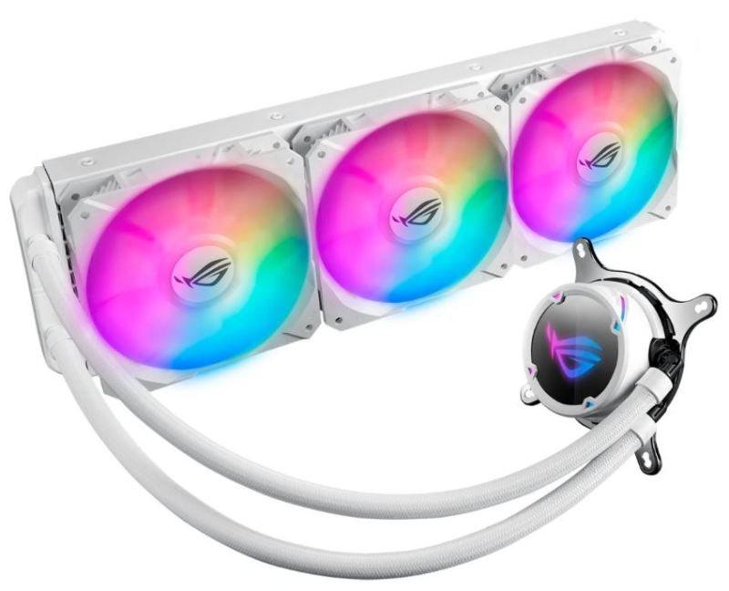 ASUS ROG STRIX LC PERFORMANCE RGB 360MM CPU LIQUID COOLER - WHITE