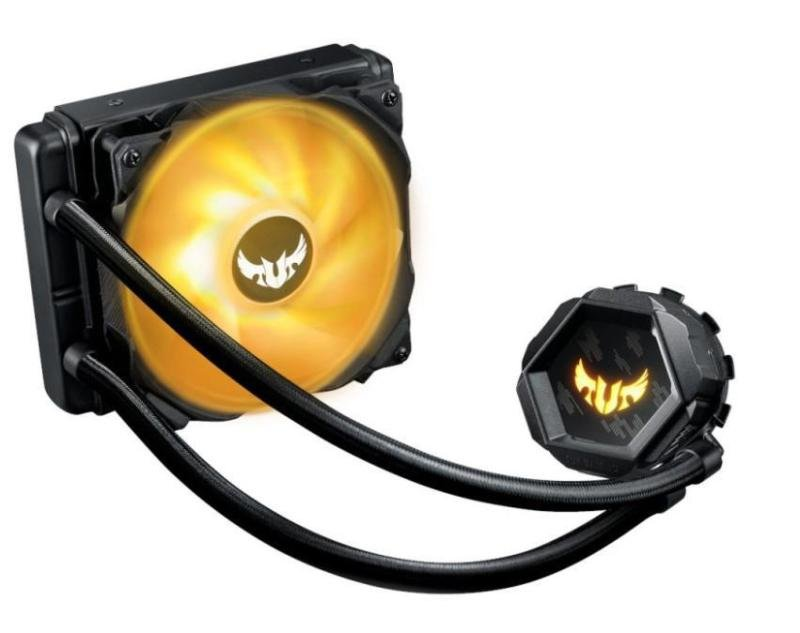 ASUS TUF Gaming LC 120 RGB all-in-one liquid CPU cooler with Aura Sync, TUF Gaming 120mm RGB radiator fans