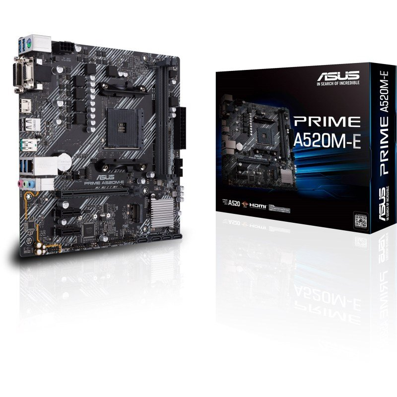 ASUS Prime A520M-E AMD Socket AM4 mATX Motherboard
