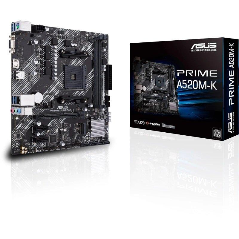 ASUS Prime A520M-K AMD Socket AM4 mATX Motherboard