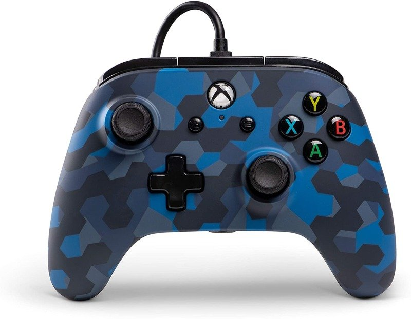 PowerA Xbox One Wired Controller - Stealth Blue Camo