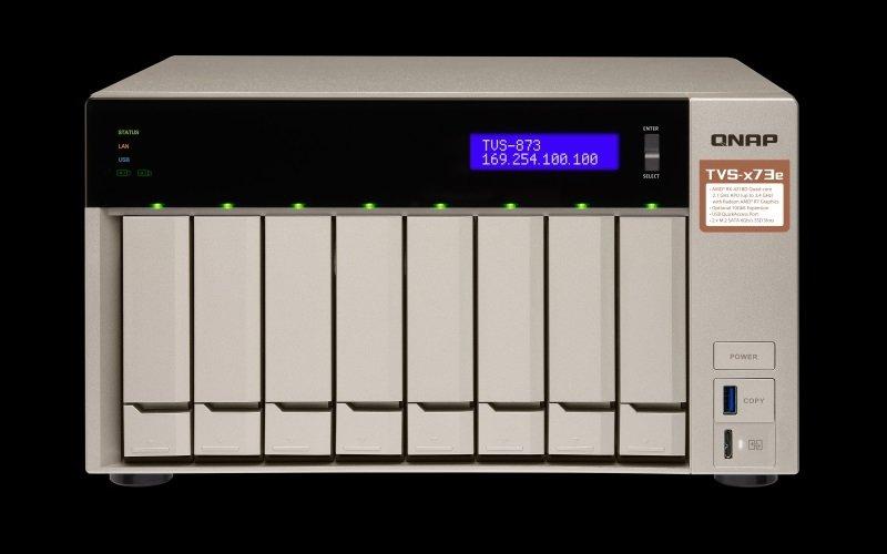 QNAP TVS-873E-4G/128TB-TOSH - 8 Bay Desktop NAS Unit