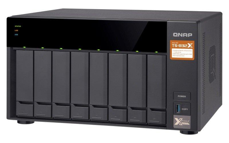 QNAP TS-832X-2G/112TB-TOSH - 8 Bay Desktop NAS Unit