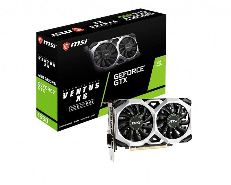 MSI GeForce GTX 1650 Ventus XS 4GB GDDR6 Graphics Card