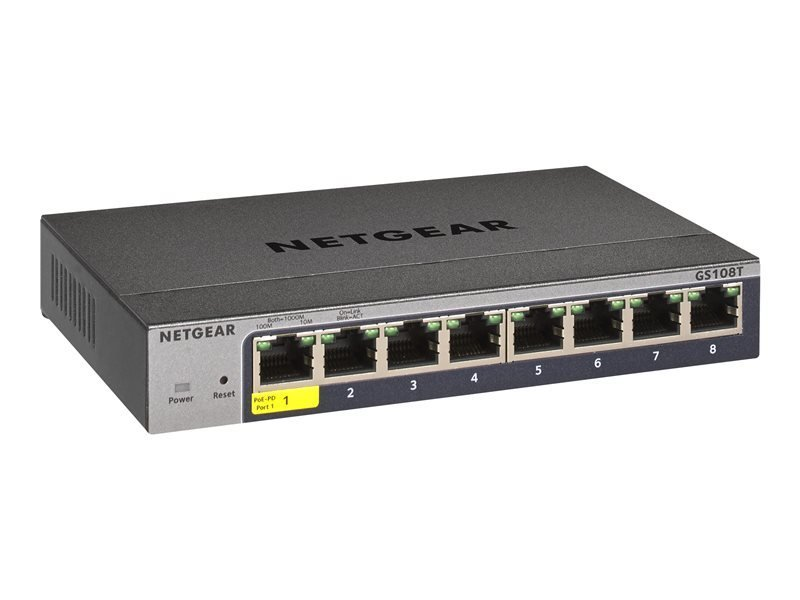 Netgear Pro GS108T-300UKS - Switch - 8 Ports - Smart