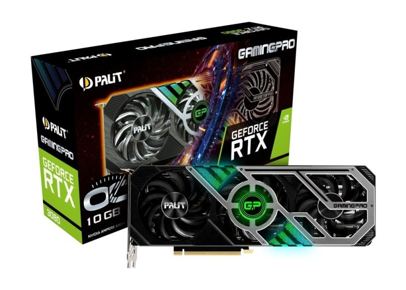 Palit GeForce RTX 3080 GAMING PRO OC 10GB GDDR6X Ampere Graphics Card