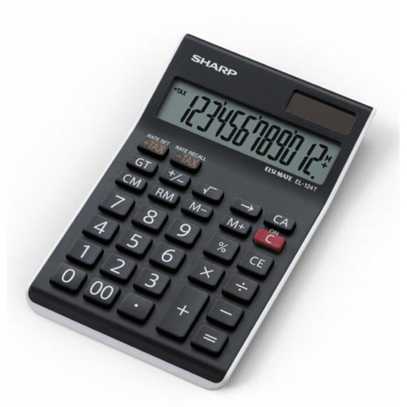 Sharp El124twh 12 Digit Desktop Calculator