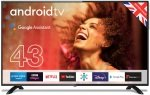 """Cello C4320G 43"""" Smart Android TV with Google Assistant and Freeview Play"""
