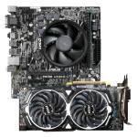 £399.99, AlphaSync Custom PC Bundle, Bundle Contains:, AMD Ryzen 5 3400G CPU, ASUS PRIME A320M-K Motherboard, 8GB DDR4 Corsair Vengeance LPX, MSI Radeon RX 580 ARMOR 8GB,