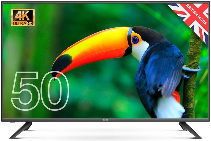 """Cello C5020DVB4K 50"""" 4K Ultra HD LED TV with built-in Freeview T2 HD"""