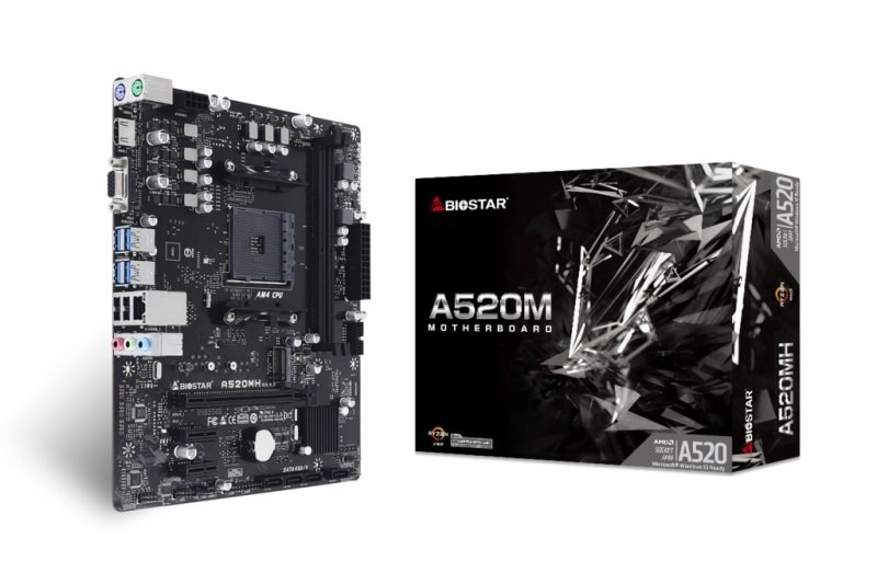 Image of Biostar A520MH DDR4 mATX Motherboard